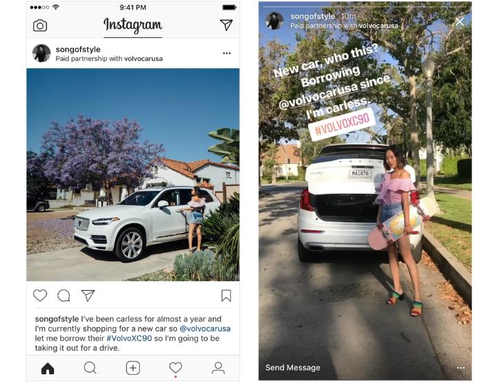 """Már tesztelik az Instagram """"Paid Partnership Tool With"""" eszközét a szponzorált posztokhoz"""
