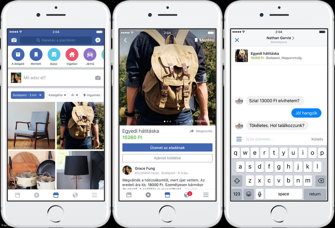 Magyarországon is elérhető a Facebook Marketplace