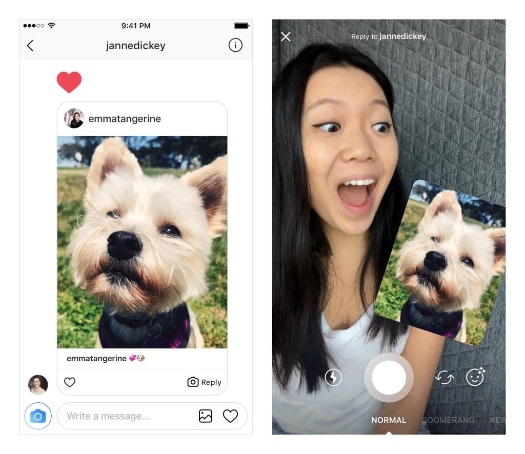 Instagram Stories válasz