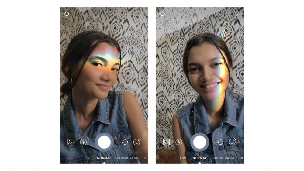 Instagram Stories face filter