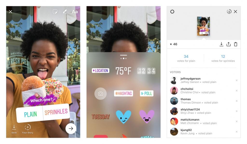 """Itt az új Instagram Stories """"szavazós matrica (poll sticker)"""""""