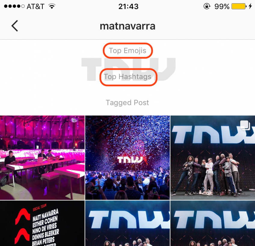 Instagram top emojik