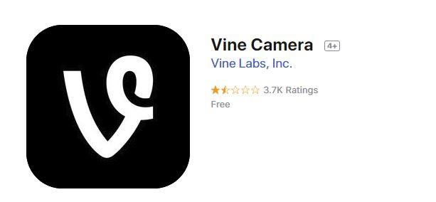 Vine Camera alkalmazás