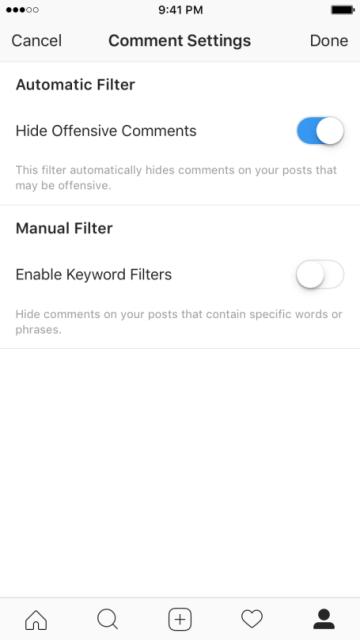Sértő hozzászólások blokkolása