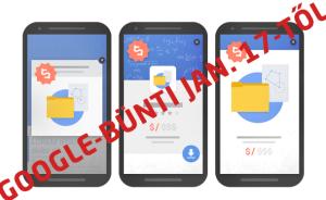 2017 január10-től itt a Google büntetés a mobil popupokra