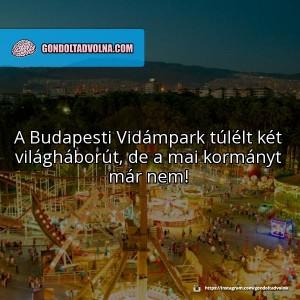@gondoltadvolna: az egyik legnépszerűbb poszt a Vidámparkhoz kötődött