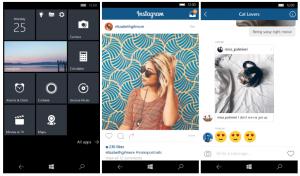 Április 28-ról elérhető az Instagram Windows 10 Mobile készülékekre is!