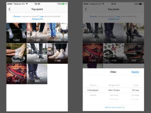Instagram analitika: legnépszerűbb bejegyzések (Top Posts)