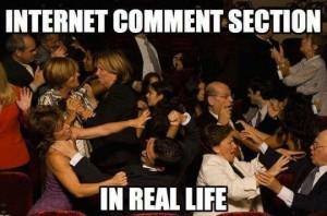 Internetes kommentek