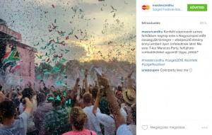 Helyszíni social média közvetítés a Szigetről (@mastercardhu Instagram)