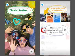 Messenger Nap: a posztolt képeket firkálni és matricázni lehet