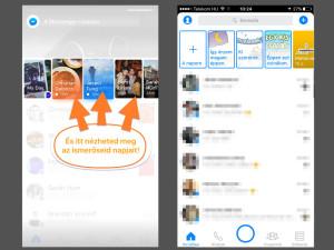 A Messenger Day összeállításokat fent lehet megnézni - kikapcsolni pedig nem... :/